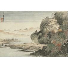 清惲壽平王翬花卉山水合冊拼圖