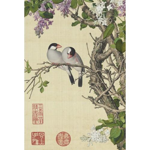 清郎世寧 仙萼長春-紫白丁香 拼圖