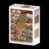 吃喝玩樂—台灣夜市小吃(夜光)拼圖